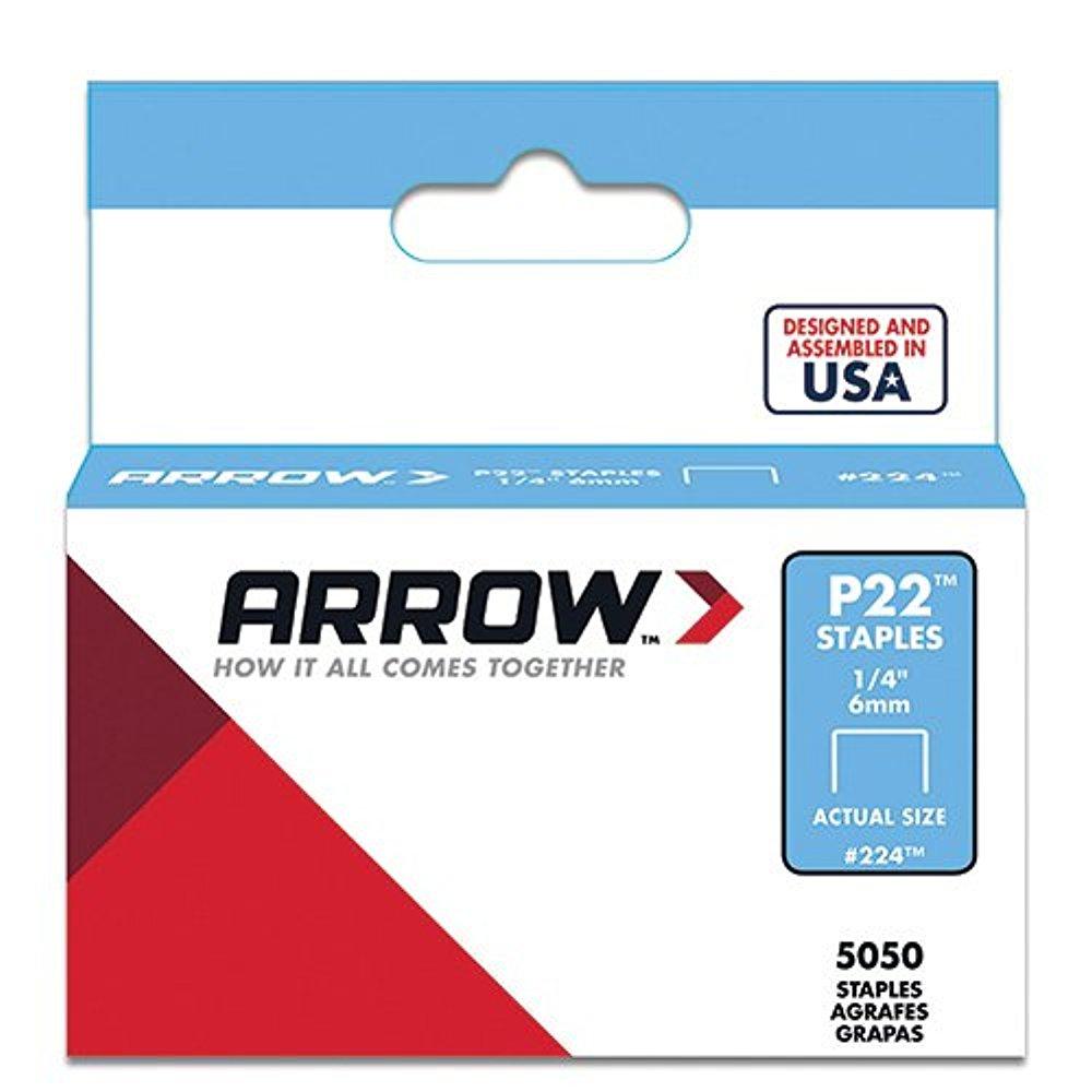 Arrow Fastener 224 1//4 P22 Staples